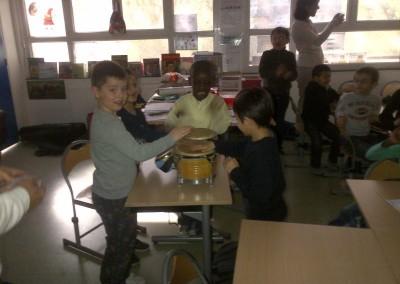 Panama en Argenteuil, clase de 1er grado de la escuela Jean Macé