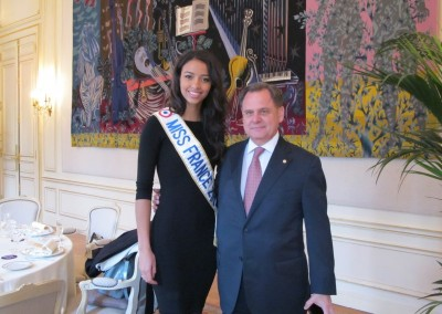 Almuerzo con Miss France 2014
