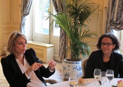 Sylvie Tellier, Directora General de Miss France y Mariana Pereira de la Embajada de Panama en Francia