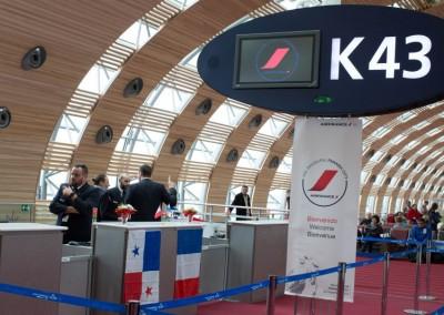 Puerta K43 en el terminal de Roissy-Charles de Gaulle