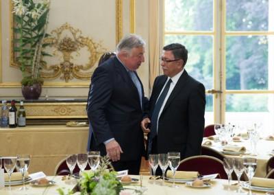 Presidente del Senado, Gérard Larcher y Presidente del GRULAC, Embajador de Paraguay