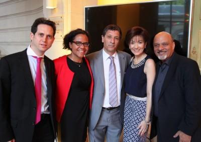 Emmanuel Aubert, Mariana Pereira, Carlos Quenan, Sra. Alfanno, Omar Alfanno