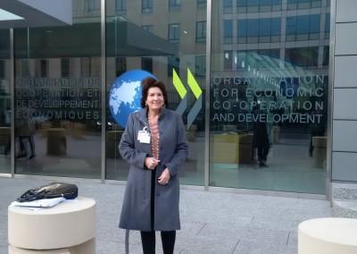Embajadora Pilar de Aleman asiste a reunión anual del Centro de Desarrollo de la Ocde. Diciembre, 2015.