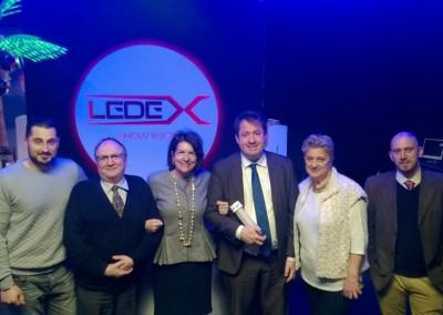 "Visita del showroom de la empresa innovadora LEDEX por la Embajadora Pilar de Alemán - 18 de enero 2016. <a href=""http://www.ledex.fr/"">LEDEX"