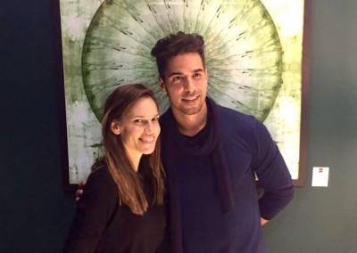 "Javier Gómez con Hillary Swank. <a href=""http://www.maison-objet.com/"">Maison & Objet"