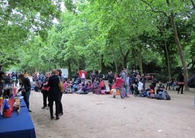 Escolares de Argenteuil en el Jardin del Luxemburgo invitados por el Senado