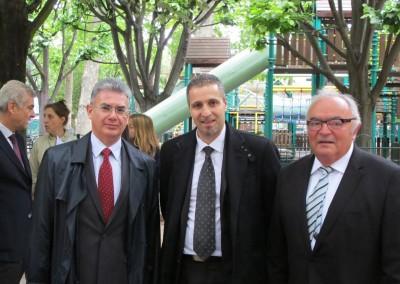 Embajador de Ecuador, Carlos Jativa, Nadir Slifi, adjunto de Argenteuil y el Senador Jean-Marc  Pastor