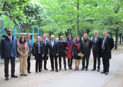 Encargados de asuntos culturales (de izquierda a derecha) de Cuba (2 pers), Haiti, Nicaragua, Venezuela, Panama, Chile, Ecuador y Argentina