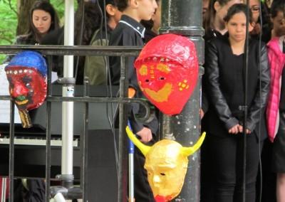 Mascaras confeccionadas por los escolares de Argenteuil