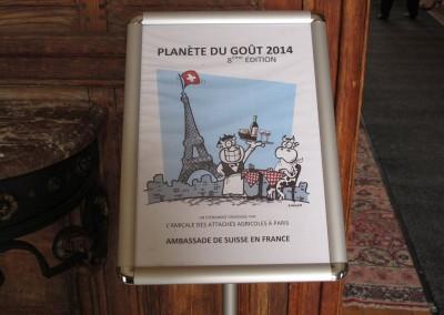 Planeta del Sabor 2014, en la residencia del Embajador de Suiza en Francia