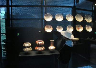 Vitrina de Panama en el Museo del Quai Branly