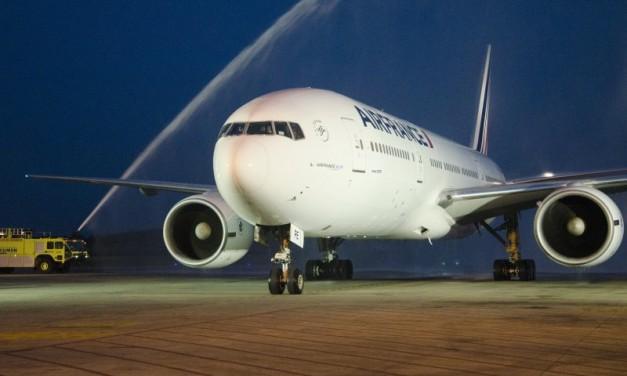 Inauguracion del vuelo Air France Paris Panama