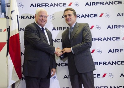Presidente Ricardo Martinelli y Alexandre de Juniac, Presidente de Air France-KLM
