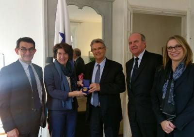Rencontre avec le groupe d'amitiés du Sénat France/Amérique Centrale, le 15 Mars 2016, à l'Ambassade du Panama
