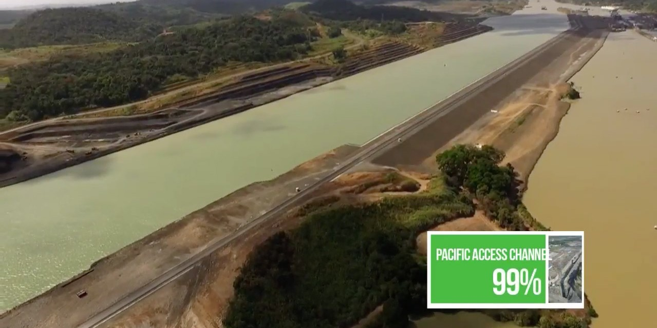 Trabajo de extensión del canal de Panamá