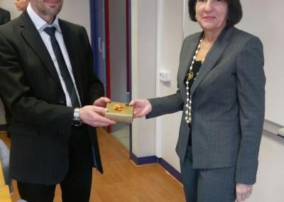 Embajadora Pilar de Alemán, con el Presidente de la Universidad de Le Havre, Pascal Reghem.