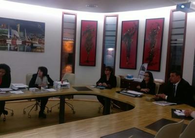 Visita a Le Havre de la Embajadora Pilar de Alemán, reunión en la SOGET