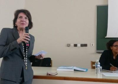 """Conferencia en la Universidad de Le Havre """"Panamá, puerta de entrada en las Americas"""". Embajadora Pilar de Alemán"""