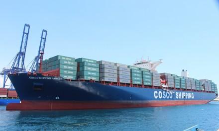 El portacontenedores COSCO Shipping Panamá zarpa de Grecia para hacer historia en Panamá