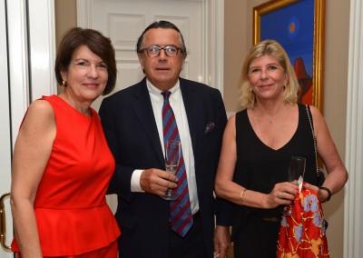 Recepción en la residencia de la Embajadora de Panama en Francia en ocasión de la inauguración de las nuevas esclusas del Canal de Panama, 25 de junio 2016.