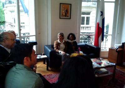 Encuentro de la Embajadora Pilar de Alemán con la comunidad panameña en ocasión de la inauguración de las nuevas esclusas del Canal de Panamá