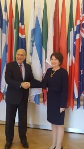 Panamá suscribe Convención sobre Asistencia Administrativa Mutua en Materia Fiscal, marco legal para intercambio de información. Copyright foto: OECD/Michael Dean.