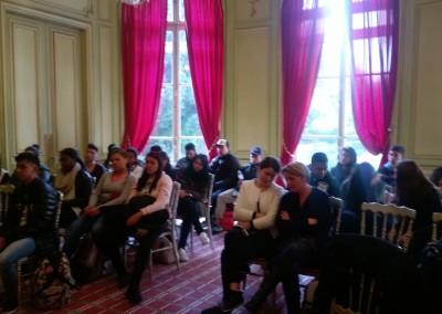 Encuentro con los estudiantes del Colegio Padre Segundo Cano de Chitre en el marco del intercambio con el Colegio Albert Camus de Argenteuil.