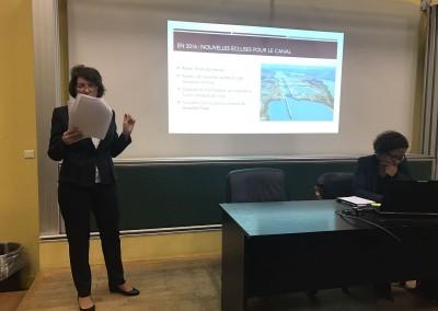 Conferencia de la Embajadora Pilar de Aleman en la Facultad de Derecho de Versalles, 25 de octubre 2016