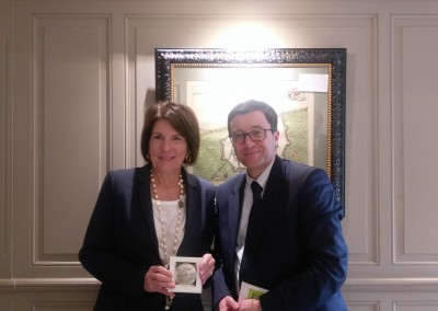 Con el Director del Puerto de Dunkerque, Stephane Raison.