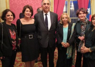 Recepción en honor a la presentación de credenciales de la Embajada de Chile en Francia.