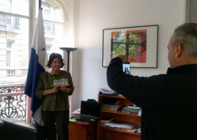 Entrevista de la Embajadora Pilar de Alemán por el Sr. Jean Michel Roger de la empresa PromAGV