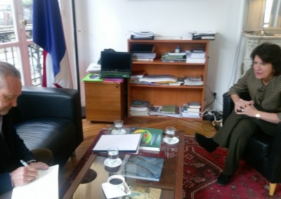 Entrevista de Su Excelencia Pilar de Alemán por el Sr. Jean Michel Roger de la empresa PromoAGV