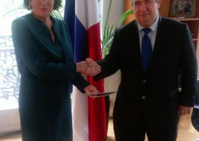 Reunión con José Francisco Queiruga, Presidente de la Cámara de Comercio Latinoamericana de París, el 25 de abril 2017