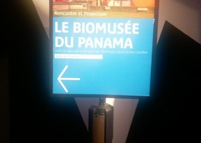 Conferencia de la Embajadora Pilar de Alemán sobre el Biomuseo en el Museo del Quai Branly