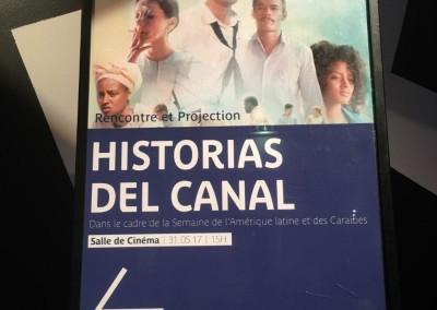 Proyección de la película Historias del Canal en el Museo del Quai Branly