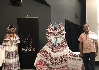 Conferencia sobre el vestido nacional, la Pollera por el Profesor Eduardo Cano en el Instituto Cervantes, el 28 de junio, y en el Liceo español Luis Buñuel, el 29 de junio