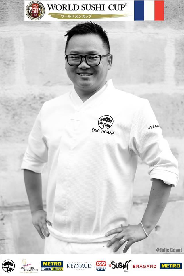 Eric Ticana, chef sushi français, diplômé du World Sushi skills Institute de Tokyo