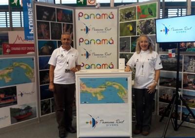 Panamá presenté en la Feria internacional de buceo con Panama Reef Divers.