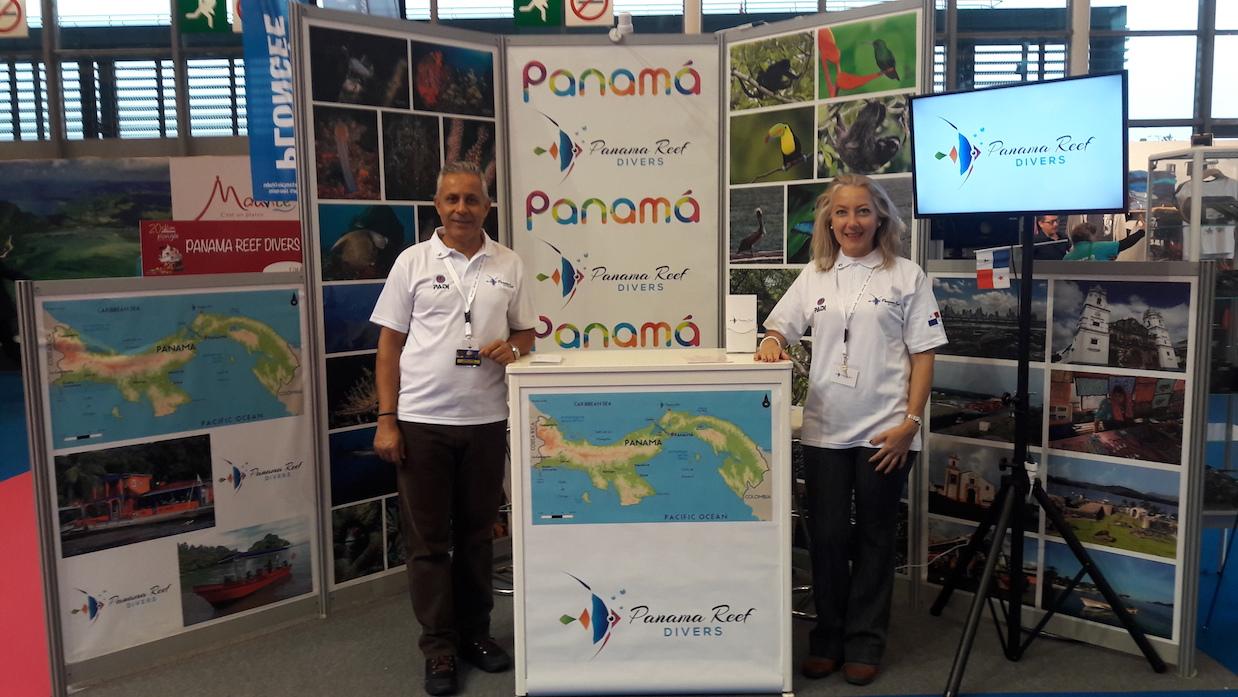 Panamá presenté en la Feria internacional de buceo con Panama Reef Divers