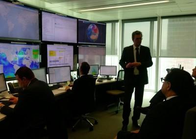 Visita de la sede de la compañía marítima CMA-CGM, el 27 de marzo de 2018.