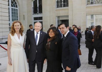 Viceministros Eyda Varela y Jonattan del Rosario con Nicole Belloubet, Ministra de la Justicia, y Gérard Collomb, Ministro del Interior