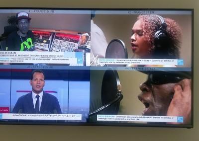 Visita de la sede de RFI, France 24 y radio Monte Carlo Doualiya, con el Director de América Latina de RFI, Pompeyo Pino, París, 21 de junio 2018