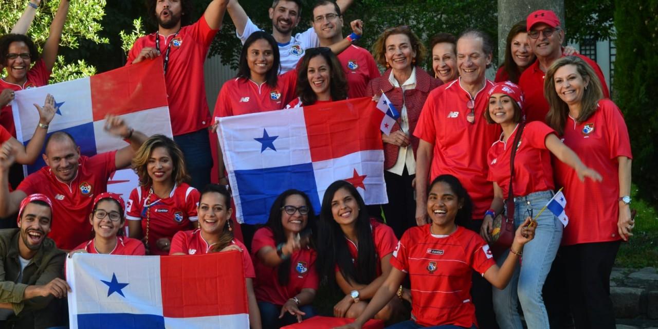 Copa del Mundo de fútbol 2018, Panamá/Bélgica, en la sede de New Balance