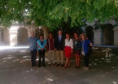 Visita del rectorado de la Academia de Occitania de la cual depende el Liceo de artes culinarias
