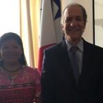 Visita a la Embajada de la instructora panameña, Yadixa del Valle.