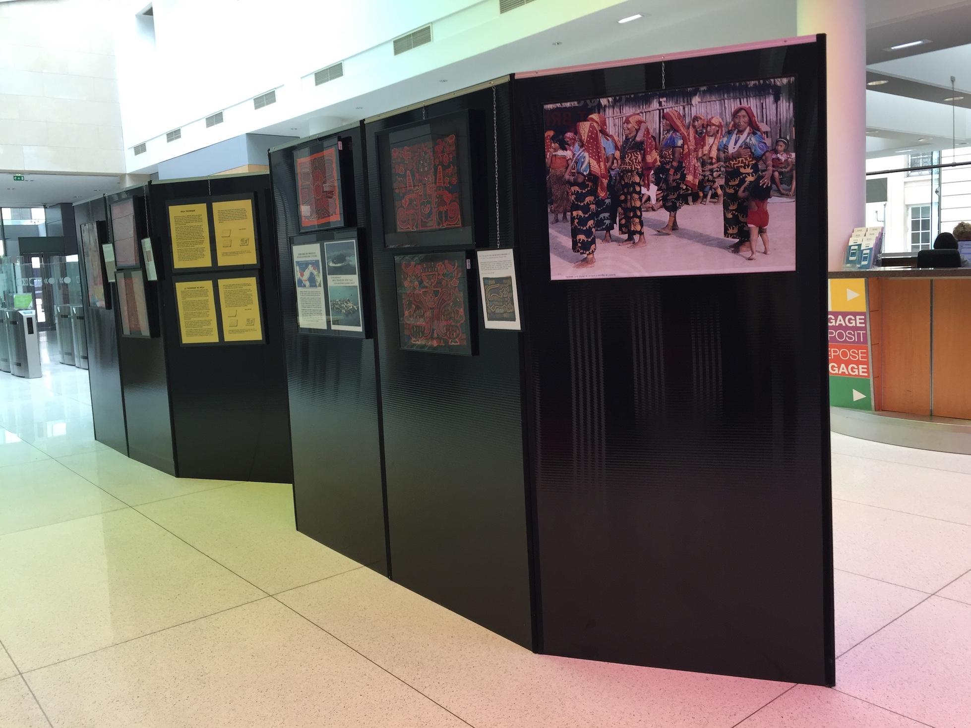 Exposición de la cultura Guna en la OCDE durante el mes de septiembre 2018.
