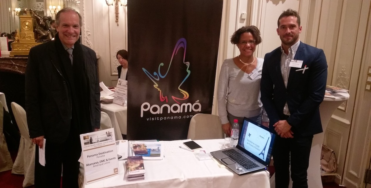 Participation de l'ambassade du Panama et le réceptive Altanueva au workshop de tourisme Luxury Travel Corner, Paris.