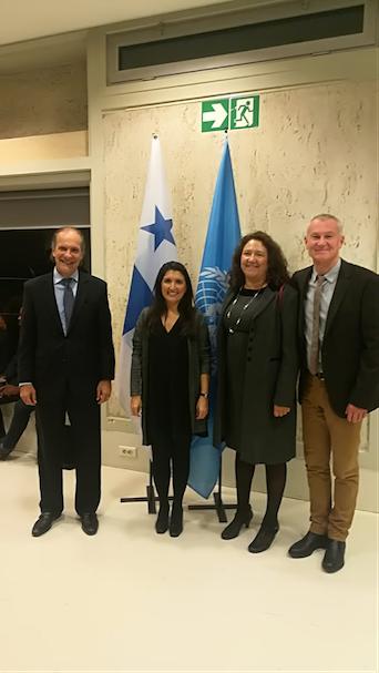 Fiesta Nacional de Panamá, celebrada en la sede de la Unesco, el 5 de noviembre 2018.