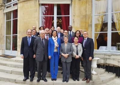 Despedida de la Embajadora de Haiti, SE Vanessa Lamothe Matignon, por el Grupo de Embajadores de América Latina y el Caribe bajo la Presidencia pro tempore del Embajador de Panamá, SE José Alberto Fábrega Roux, el viernes 15 de marzo en la Casa de América Latina de Paris