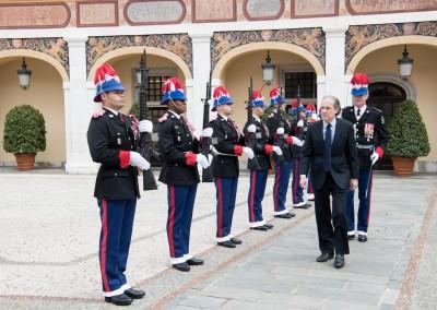 Presentación de credenciales del Embajador José Fábrega Roux ante Su Alteza Serenísima, el Príncipe Alberto II de Mónaco